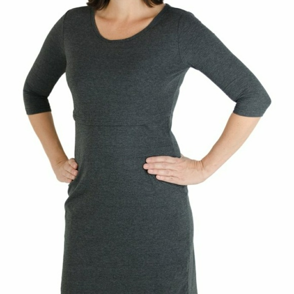 40a5b399229 Latched Mama Dresses   Skirts - Latched Mama Nursing Dress Large BLACK